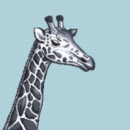 Z 10657 Vyšívací sada - Černo-bílá žirafa