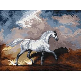 K 4030 Předtištěná kanava - Koně v bouři - S. Gilpin