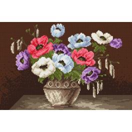 K 4016 Předtištěná kanava - Sasanky vkvětináči