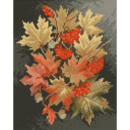 K 4017 Předtištěná kanava - Podzimní listy