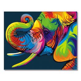 GEX5330 Malování podle čísel - Duhový slon