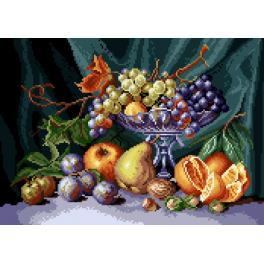 K 7081 Předtištěná kanava - Zátiší - mísa s ovocem