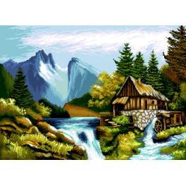K 7289 Předtištěná kanava - Horská krajina