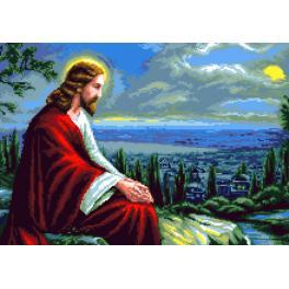 K 7314 Předtištěná kanava - Ježíš Kristus