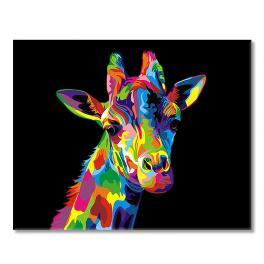 SI Ms9431 Malování podle čísel - Duhová žirafa