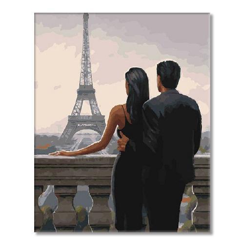 SI mes7160 Malování podle čísel - Pohled na Eiffelovu věž