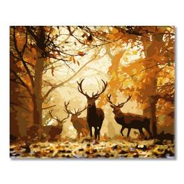 WD H001 Malování podle čísel - Lesní jelen