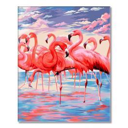 WD H112 Malování podle čísel - Růžové jezero