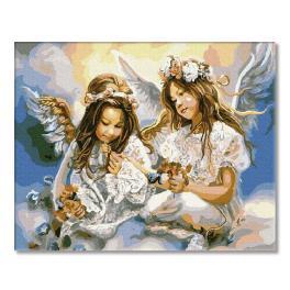 PC4050129 Malování podle čísel - Dva Andělé