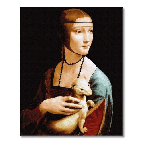 PC4050684 Malování podle čísel - Dáma s hranostajem, L. da Vinci