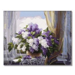 PC4050171 Malování podle čísel - Šeřík na okně