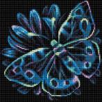 M AZ-1713 Diamond painting sada - Neonový motýl