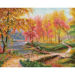 M AZ-1822 Diamond painting sada - Podzim ve starém parku