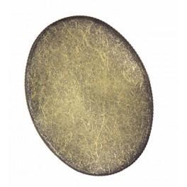 Základ brože oválná bronz 30x40mm
