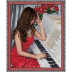 M AZ-1836 Diamond painting sada - Pianistka