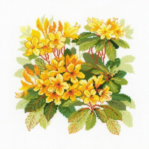 RIO 1922 Vyšívací sada s akrylovou příze - Rododendron