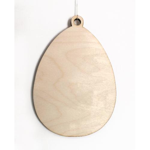 995-01 Dřevěný přívěšek - vejce 15 cm velké