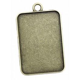 Základ medaliónu obdélník bronz 23x33mm