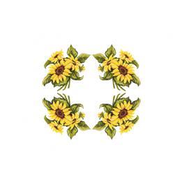 W 10450 Předloha ONLINE pdf - Ubrus s slunečnicemi