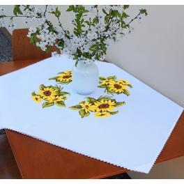 ZU 10450 Vyšívací sada - Ubrus s slunečnicemi