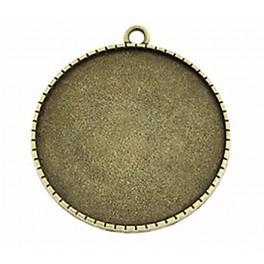 Základ medailónu kulatá bronz 40mm květiny