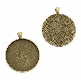 Základ medailónu kulatá bronz 40mm