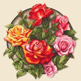 ZN 10649 Vyšívací sada s potiskem - Růže