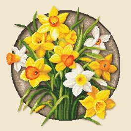 ZN 10647 Vyšívací sada s potiskem - Narcisy