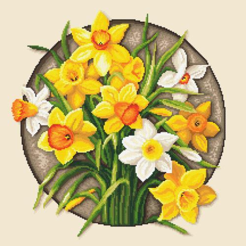 Z 10647 Vyšívací sada - Narcisy