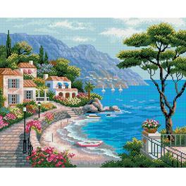 PD4050014 Diamond painting sada - Středomořská zátoka