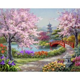 ZTDE 7110 Diamond painting sada - Japonská zahrada