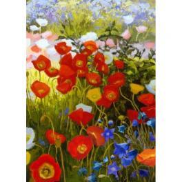 ZTDE 7109 Diamond painting sada - Květinový koberec
