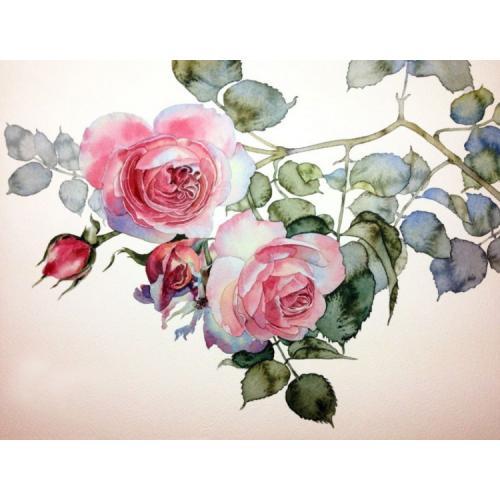 ZTDE 7093 Diamond painting sada - Větvička růže