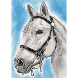 ZTDE 7102 Diamond painting sada - Bílý kůň