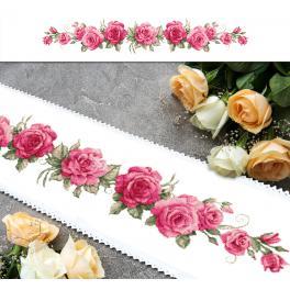 ZU 10448 Vyšívací sada - Dlouhý běhoun s růžemi