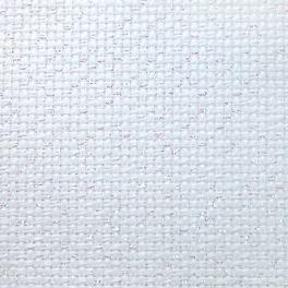 964-54-3542-11 Metallic AIDA 54/10cm (14 ct) bílá - arch 35 x 42 cm