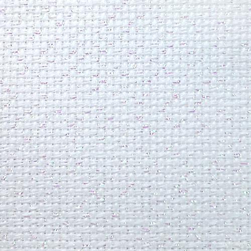 964-54-4254-11 Metallic AIDA 54/10cm (14 ct) bílá-opál - arch 42 x 54 cm