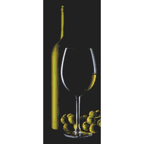 Z 10318 Vyšívací sada - Sklenice s bílým vínem