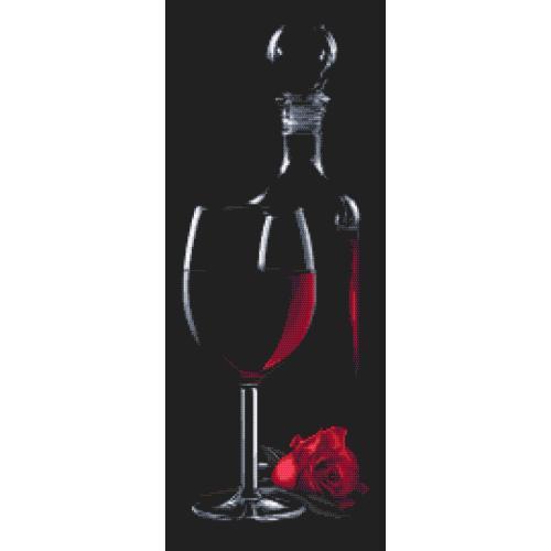 Z 10317 Vyšívací sada - Sklenice s červeným vínem