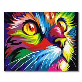 PC4050344 Malování podle čísel - Duhová kočka
