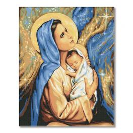 PC4050558 Malování podle čísel - Svatá Matka Boží Marie