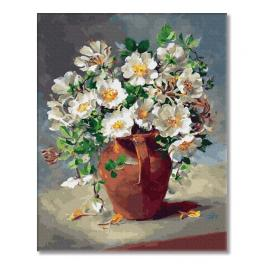 PC4050465 Malování podle čísel - Bílé květy ve džbánku