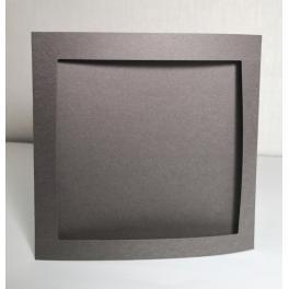 900-14 Velká přání s čtvercovým paspartou. Barva grafitová