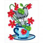 CA 3331K Gobelínova sada - Myška mezi květinami