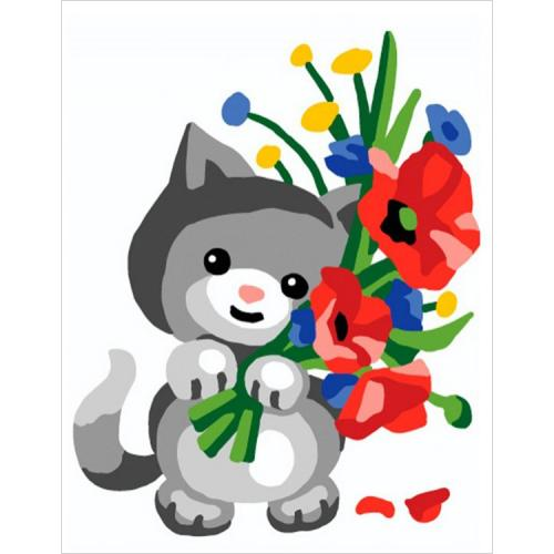 CA 3332K Gobelínova sada - Kočička s máky