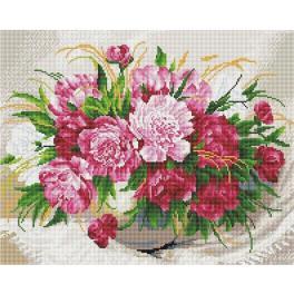 PD4050176 Diamond painting sada - Jemné květiny