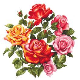 ZN 10674 Vyšívací sada s potiskem - Růže II