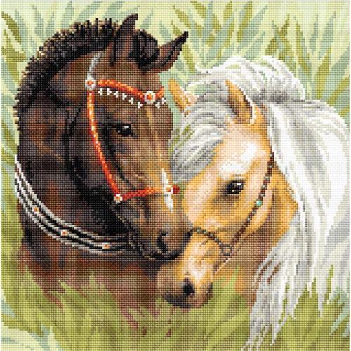 RIO AM0039 Diamond painting sada - Pár koní