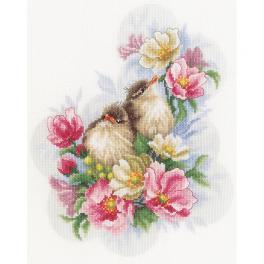 LPN-0185003 Vyšívací sada - Strážci květinové větvičky