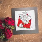 W 10327-03 Předloha ONLINE pdf - Přání - Obálka plná růží